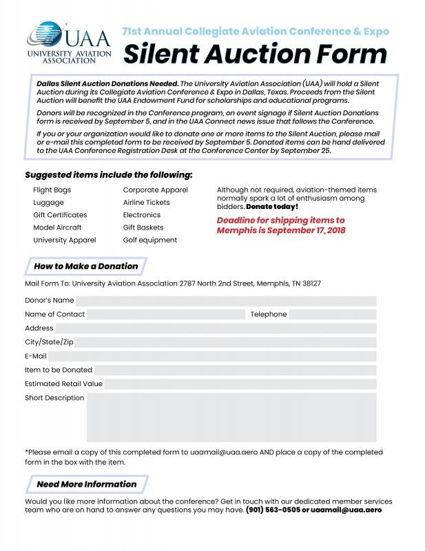 silent auction registration form